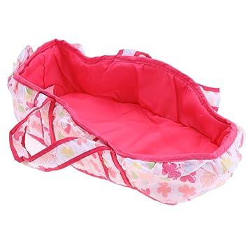 Baoblaze Puppen Schlafsack Deckenschlafsack Trägertasche mit Blume ...