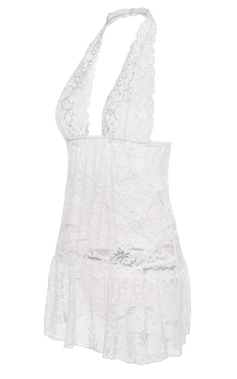 Donna Baby Doll Sleep Solidi Colori Prospettiva Elegante Chic Dress Abbigliamento Festivo Abbigliamento Festivo Night Dress Young Fashion Accogliente Intimo Senza Maniche Lingerie Intimo