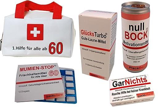 Erste Hilfe Tasche Zum 60. Geburtstag (5 Teilig)