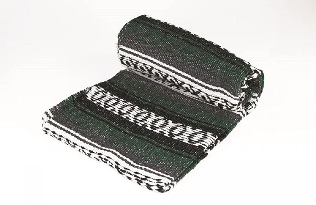 Authentic Mexican Yoga Falsa Blanket Dark Green