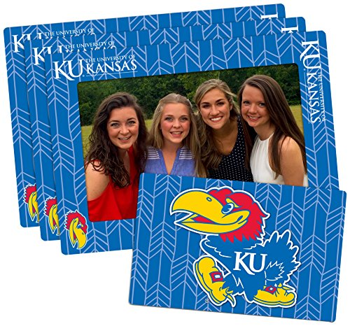 Worthy Promo NCAA Kansas Jayhawks 4-inch by 6-inch Magnetic Frame Plus Bonus Magnet, Blue, 3 Pack