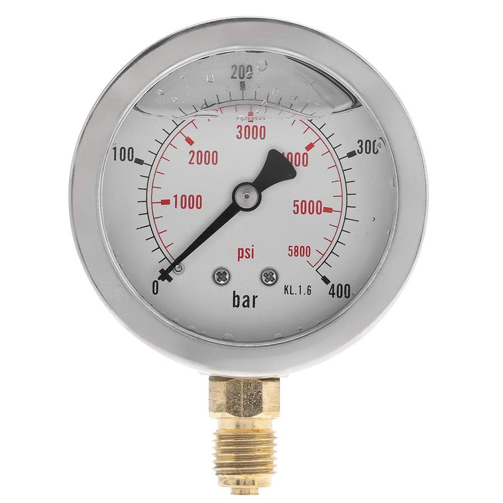 Hydraulic Pressure Gauge Kit , Excavator Hydraulic Pressure Test Kit, with Testing Hose Coupling and Gauge