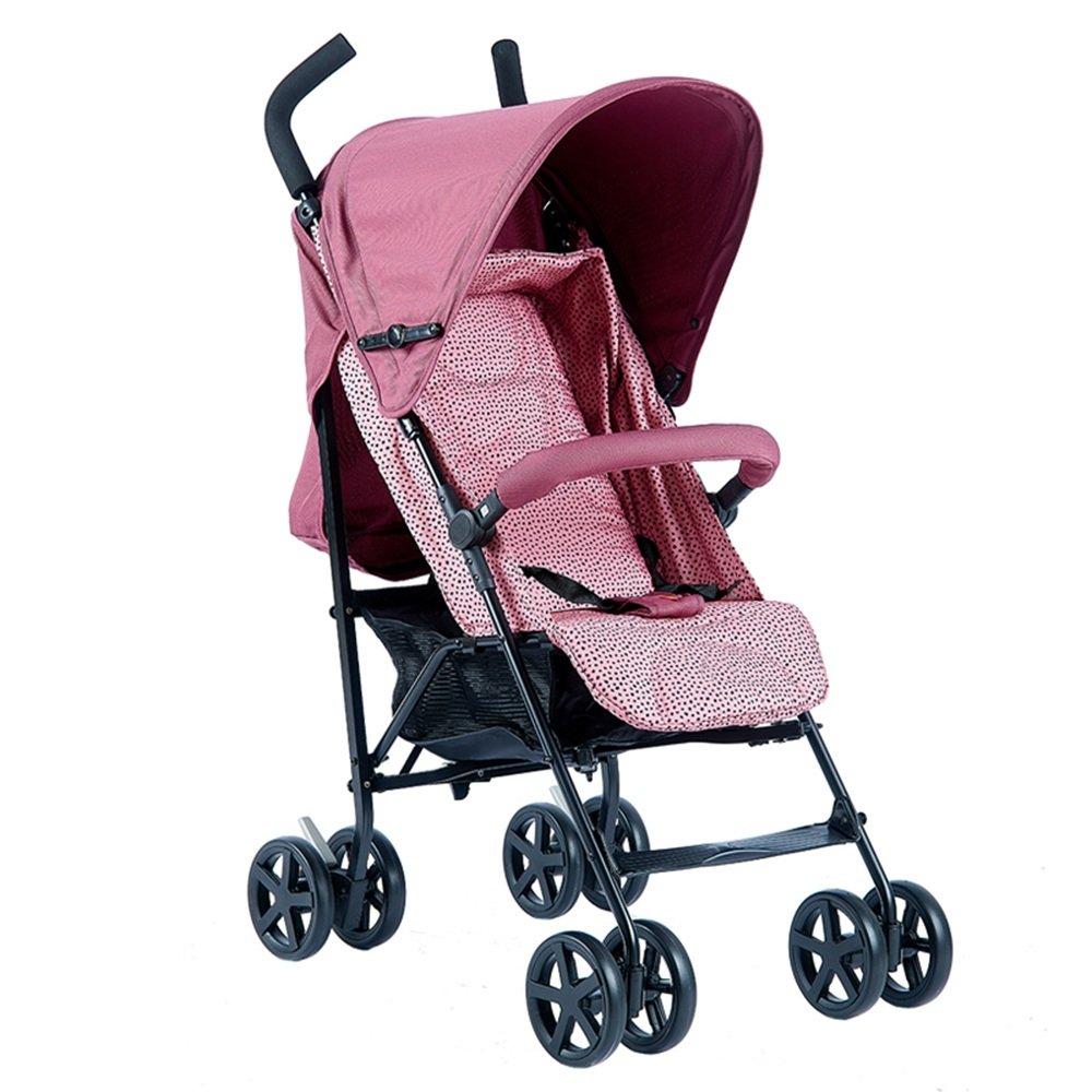 LVZAIXI ベビートベビーカー軽量折りたたみシットバック子供用ベビーカー ( 色 : Pink 2 ) B07CG51DXR Pink 2 Pink 2