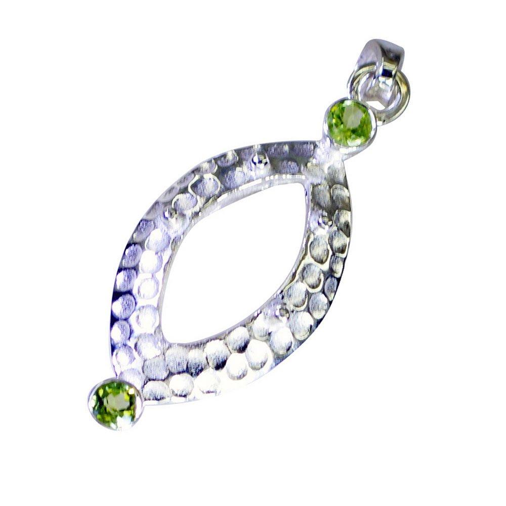 GEMSONCLICK Genuine Peridot Leaf Style Silver for Women /& Girl Handmade Pendant August Birthstone Charm