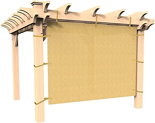easy2hang Durable Parasol privacidad Panel con cuerda para pérgola, Side lámpara de pared para Instant toldo o Gazebo, tela, Wheat, 10x6.5: Amazon.es: Deportes y aire libre