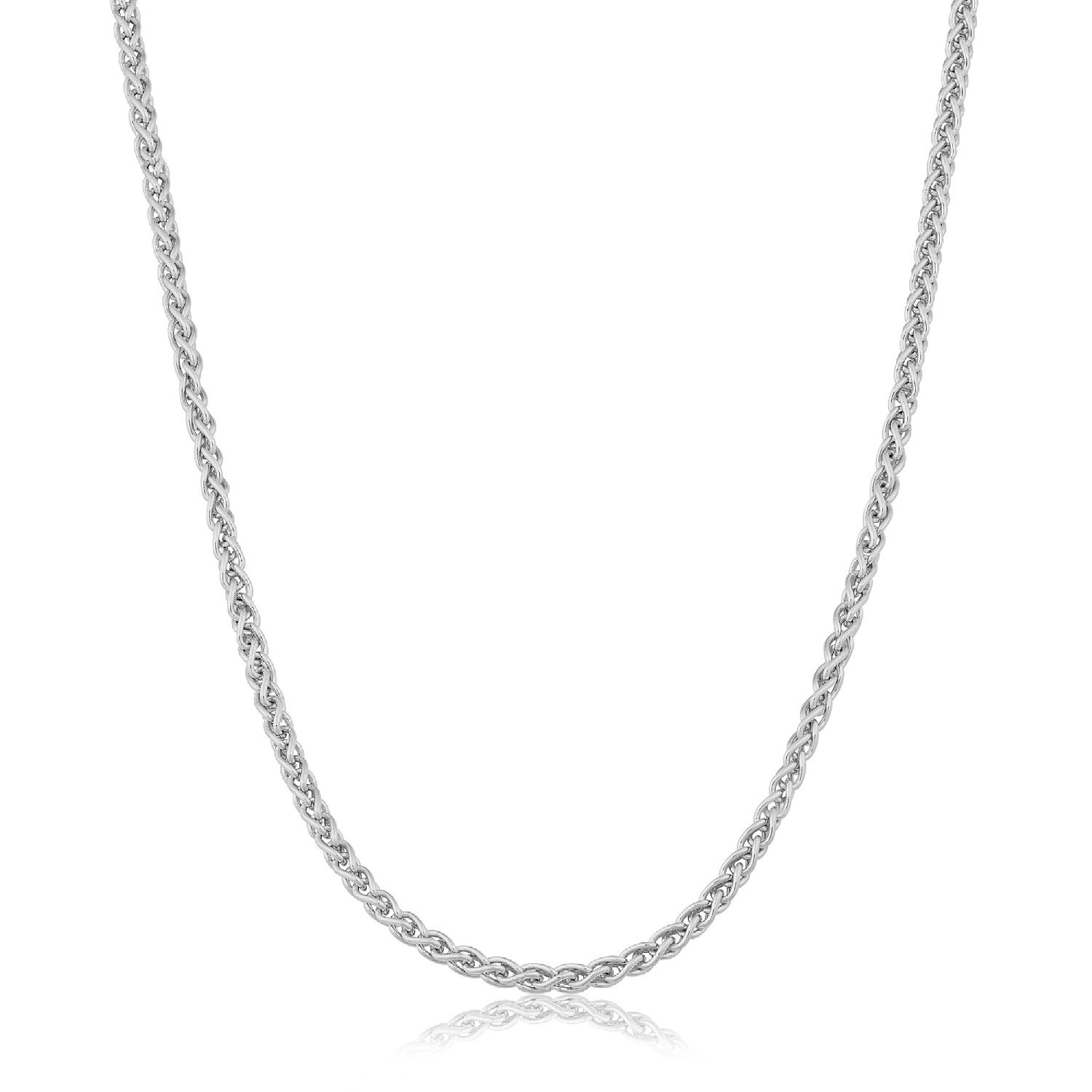 Watch Store USA Sterling Silver 1.2mm Round Wheat Chain (14, 16, 18, 20, 22, 24, 30 or 36 inch) (22 Inches)