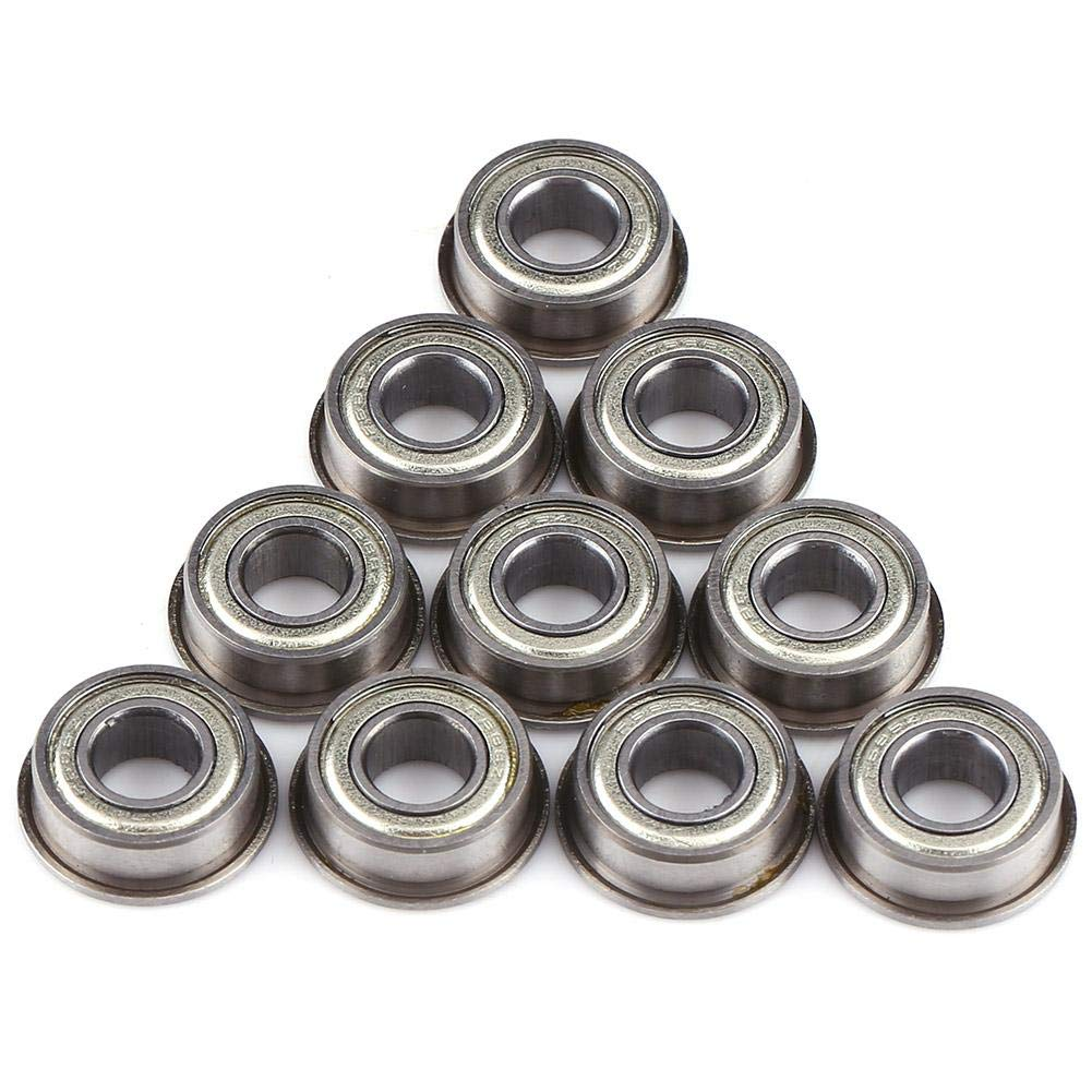 10pcs F686ZZ Bearing 6 * 13 * 5mm Mini Metal Steel Double Shielded Ball Bearings for Small Hobby 6mm Shaft//Rod Projects Mini flanged Ball Bearings