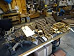 EngravOgraph Engraver Lot Brass Letters Numbers Lettering Fonts Symbols w Trays