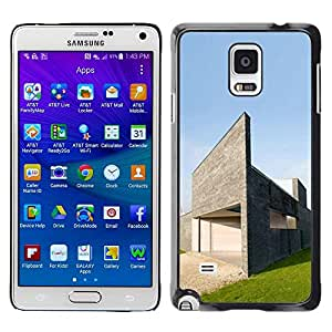 LECELL -- Funda protectora / Cubierta / Piel For Samsung Galaxy Note 4 SM-N910F SM-N910K SM-N910C SM-N910W8 SM-N910U SM-N910 -- Architecture Modern House --