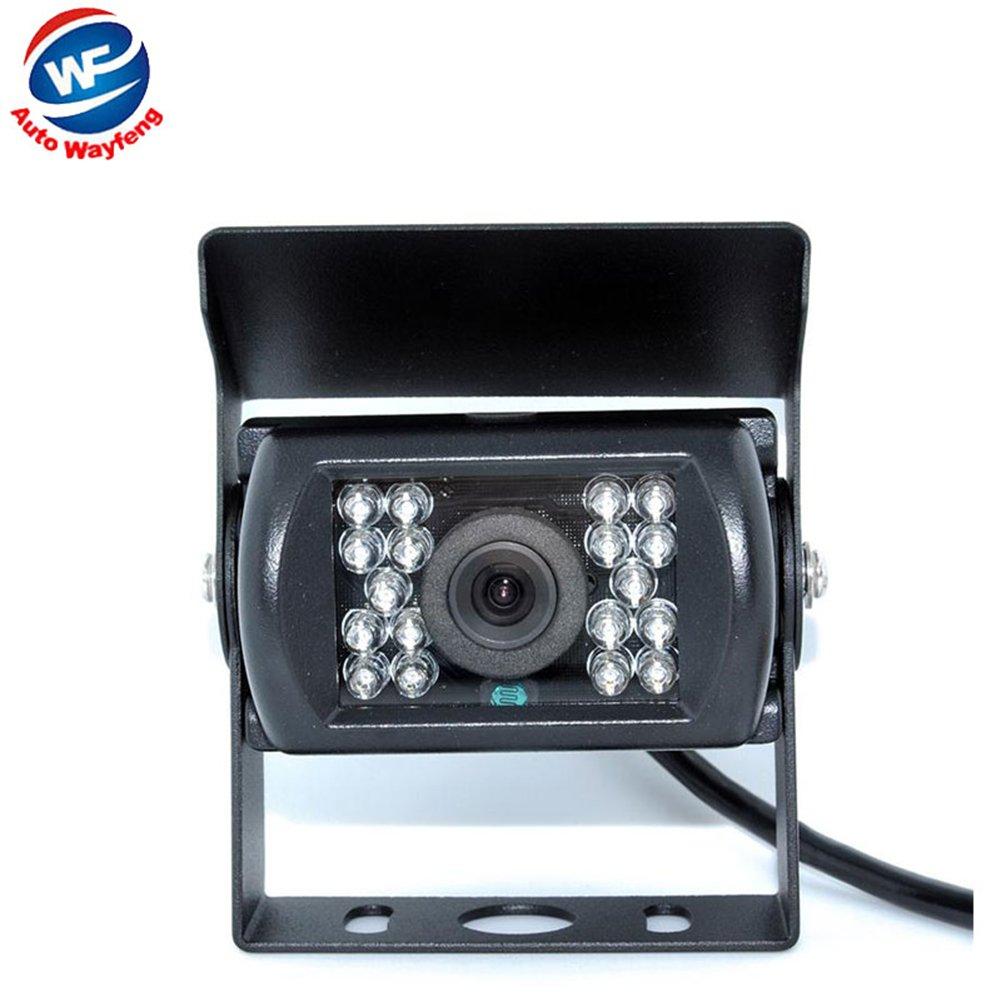 Auto Wayfeng/® HD CCD arri/ère de voiture cam/éra de recul de parking de recul Cam/éra de sauvegarde 120 degr/és 18 IR Nightvision cam/éra /étanche Truck Bus