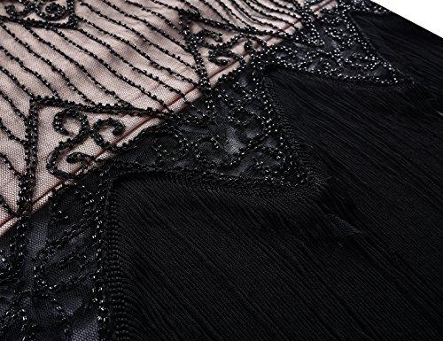 PrettyGuide Beige Black Maniche Sera Donna Vestito corte 8rq8a7