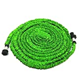 SoLed 2016 Newest Lawn Water Hose 25 Ft Feet Green Newest Flexible Expandable Expanding Garden