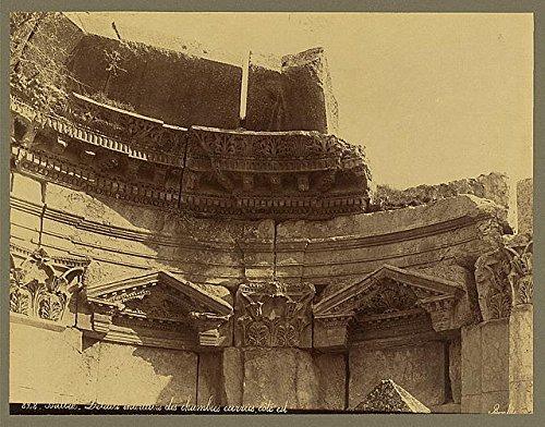 Photo: Interior of Chamber in Temple, Ba'labakk, Lebanon, Archaeological Site, 1867-1899 . Size: - Online Sites Shopping Lebanon