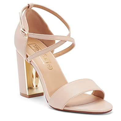 611d4aba78e6 TRUFFLE COLLECTION Nude Block Heel Sandals (FALLON2)  Buy Online at Low  Prices in India - Amazon.in