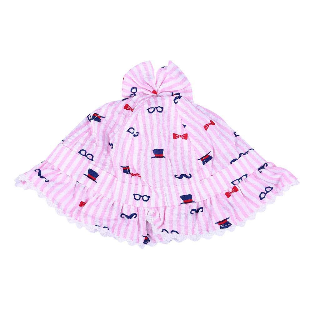 D Meidexian888 Toddler Flower Cloth Sun Hat,Lovely Baby Lace Infant Kids Girls Hollow Cap