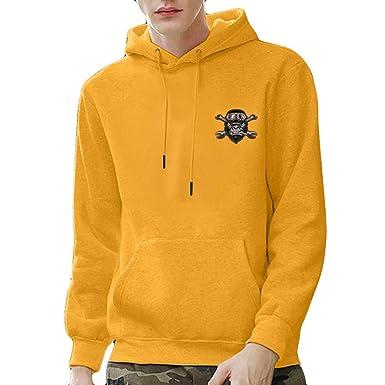 VPASS Jersey para Hombre Sudaderas con Capucha Impresas Unisex con Bolsillos Jersey de Punto suéter Impreso Arte Suéter Básica con Bolsillo Ajustado para ...