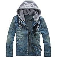 Hannea Stylish Hooded Long Sleeve Pocket Denim Men Jacket