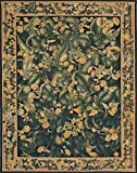 8'0'' X 10'0'' French Tapestry Traditional Black, Green Area