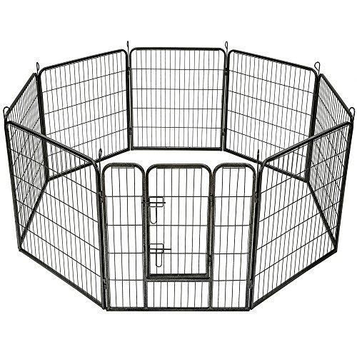 TecTake Welpenlaufstall Tierlaufstall Freigehege Hunde Laufstall - diverse Modelle - (8eckig | Nr. 401717)