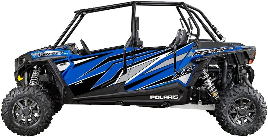 Pro Armor RZR XPK4 1000 Stealth Door Electric Blue Graphic P164G500EB