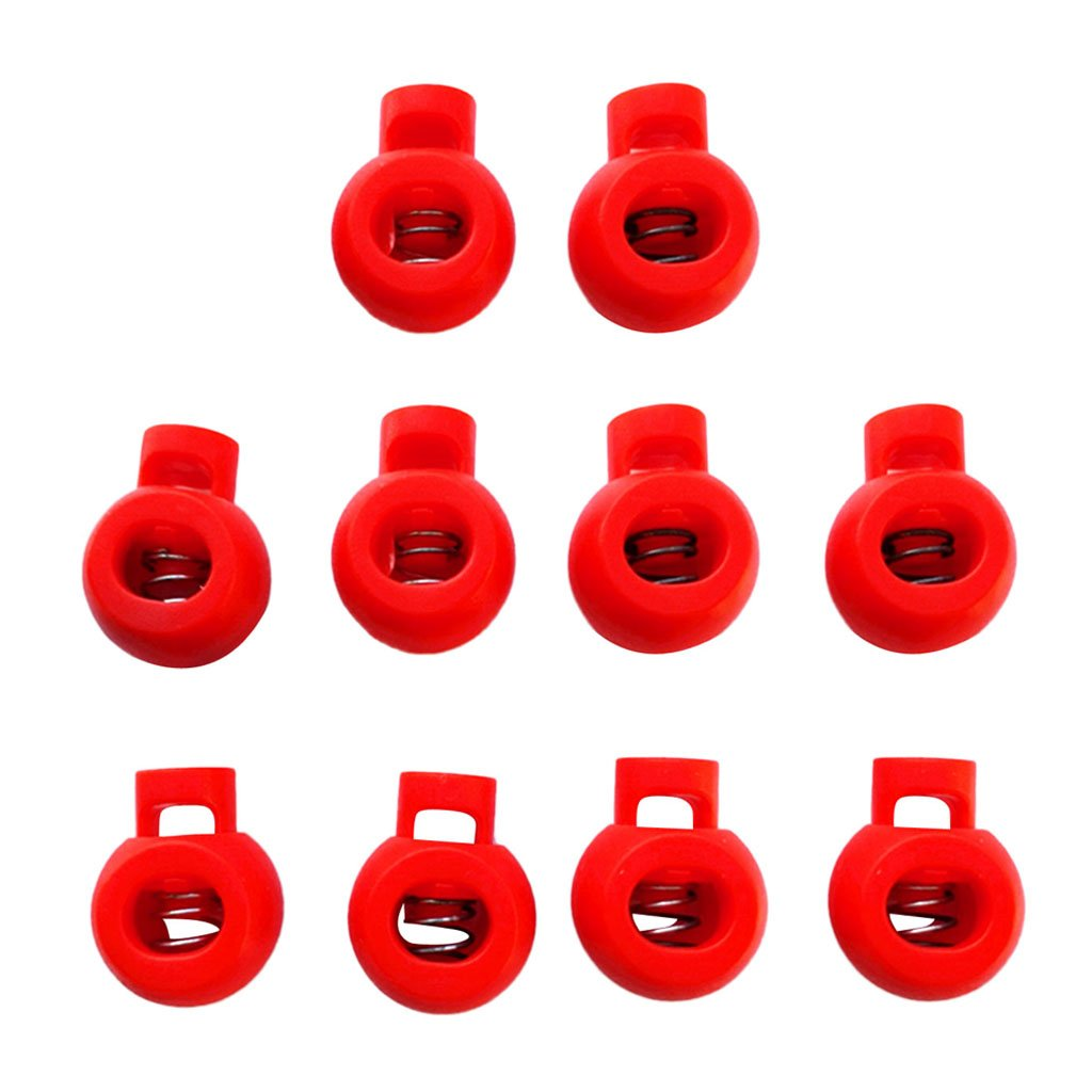 Pack 10 Elastic Shock Cord Rope Toggle End Lock Stoppers Ball Buckles - Blue Non-brand