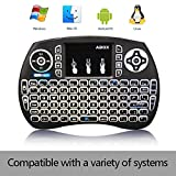 Globmall Backlit Mini Keyboard, 2017 Model 2.4Ghz Multi-media Portable i9 Wireless Keyboard with Touchpad Mouse, Perfect for PC, Mac, Linux, IPTV, Android TV Box, Windows etc.