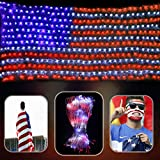 DLIUZ Led Flag Net Lights of The United States Waterproof American Flag Light for Independence Day, Memorial Day, Festival, Garden, Indoor and Outdoor
