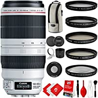 Canon EF 100-400mm f/4.5-5.6L IS II USM Lens with 5 Piece Filter Kit, Wireless Remote and Cleaning Kit