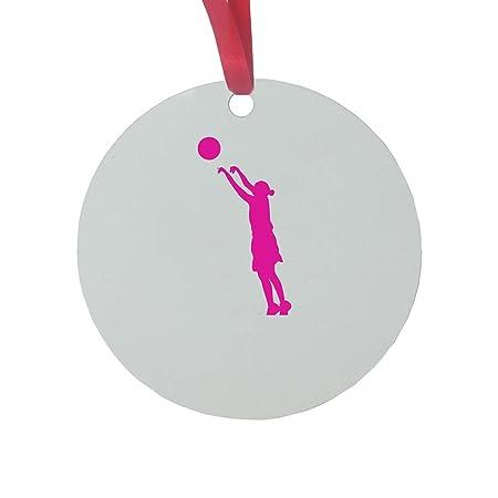 CustomGiftsNow Personalizadas Rosa niña de Baloncesto Disparo un ...