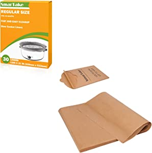 SMARTAKE 120 Pcs 12 × 16 Inches Parchment Paper Bundle with 13 × 21 Inches Slow Cooker Liners, Suitable for Baking Grilling Air Fryer Steaming Bread Cup Cake Cookie and More