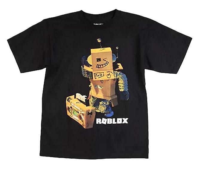 d252674498f02 ROBLOX Boys Robot Short Sleeve T-Shirt (Robot/Black, Large)