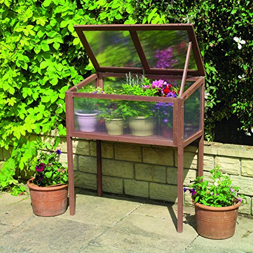 Gardman 7651 Raised Wooden Cold Frame, FSC Certified Timber Frame, 20
