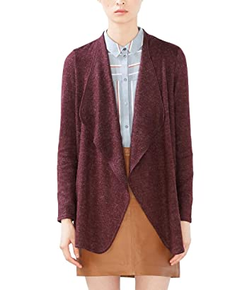 096CC1I034, Gilet Femme, Rouge (Bordeaux Red), 36 (Taille Fabricant: Small)EDC by Esprit