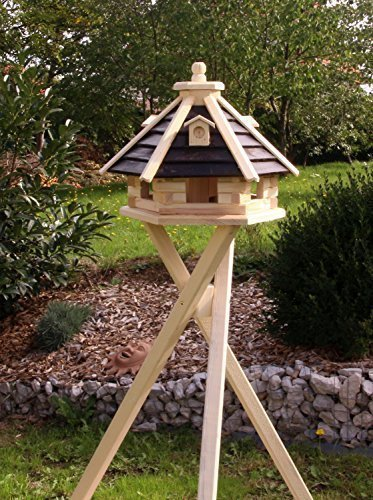 Brown With Stand Brown With Stand holzdekoladen Bird House Bird Houses Wooden Type 21 Brown, With Stand