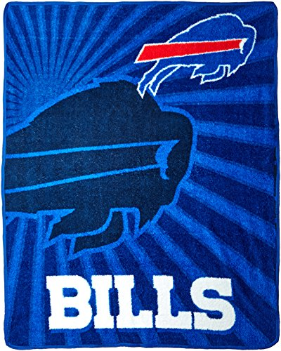 - Officially Licensed NFL Buffalo Bills Strobe Sherpa on Sherpa Throw Blanket, 50