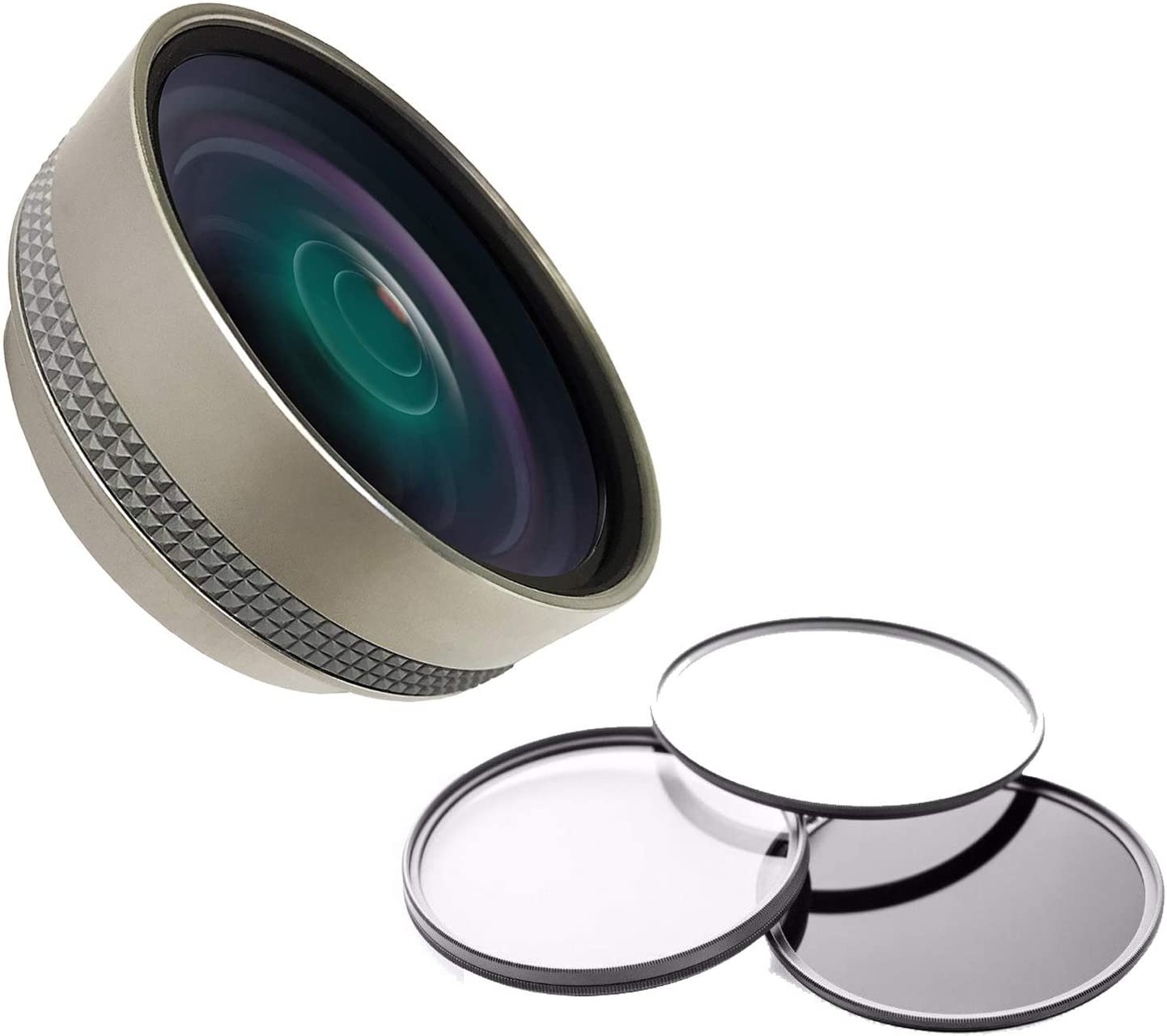 Includes Lens Adapter 58mm 3 Piece Filter Kit 0.4X High Definition Super Wide Angle Lens w//Macro for Fujifilm FinePix S9800