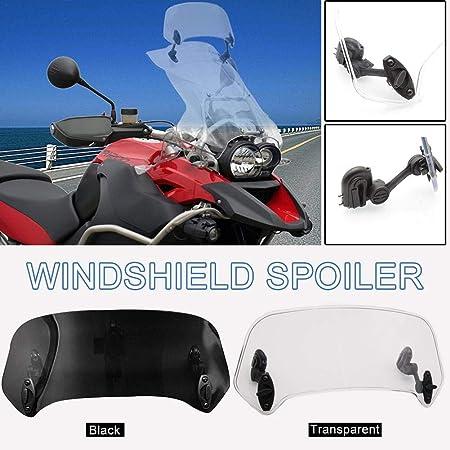 Motocicleta Deflector de aire del parabrisas del parabrisas del parabrisas de extensi/ón de la pantalla universal para H-o-n-d-a D-u-c-a-t Y-a-m-a-h-a S-u-z-u-k-i T-r-i-u-m-p-h-m-p