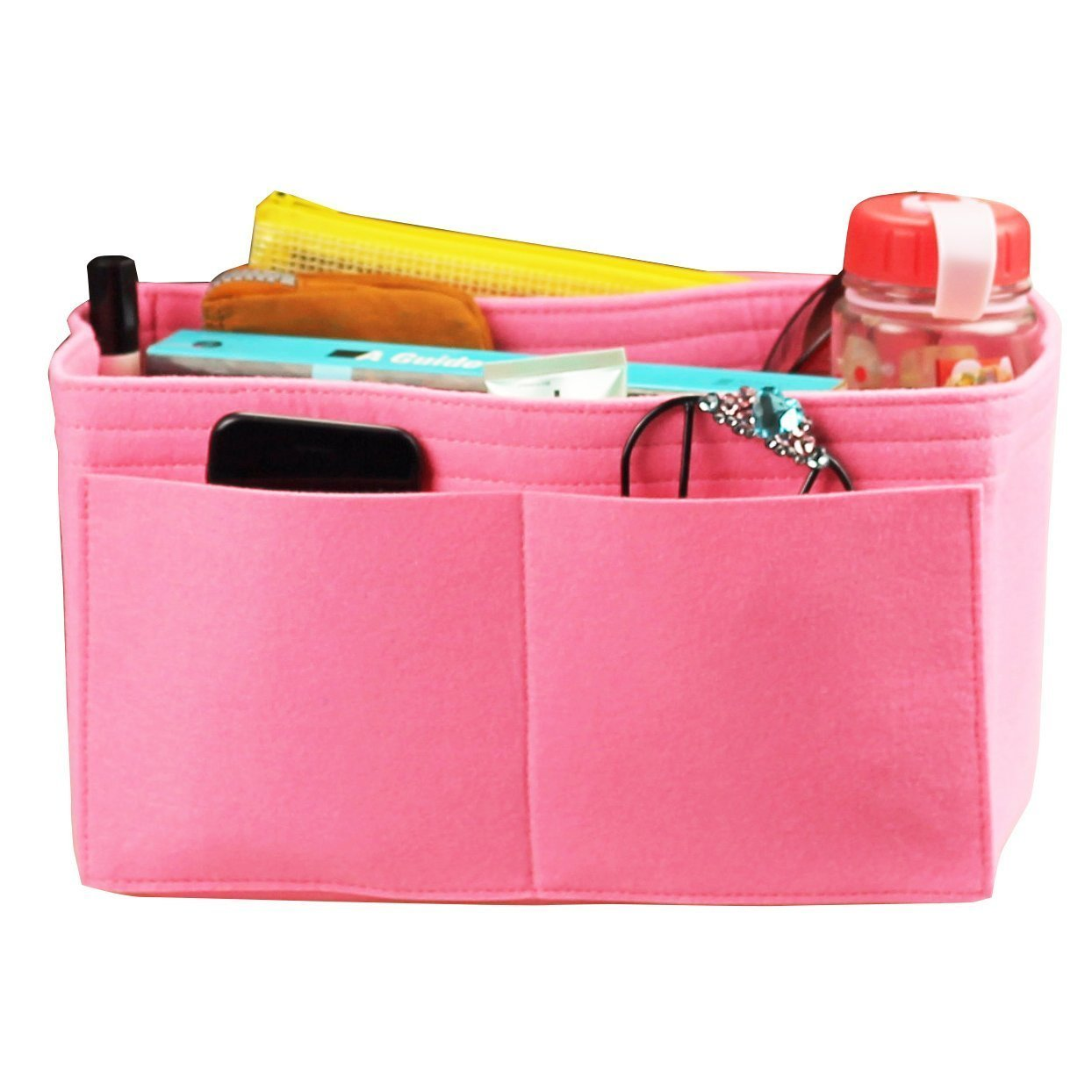 Felt Tote Organizer, Bag in Bag, Wool Purse Insert, Customized Tote Organize, Cosmetic Makeup Diaper Handbag