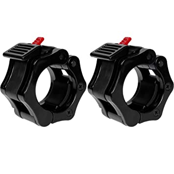 by Quick Release Pair of ... Fitness & Jogging POWER GUIDANCE Weightlifting Barbell Clamp Collar