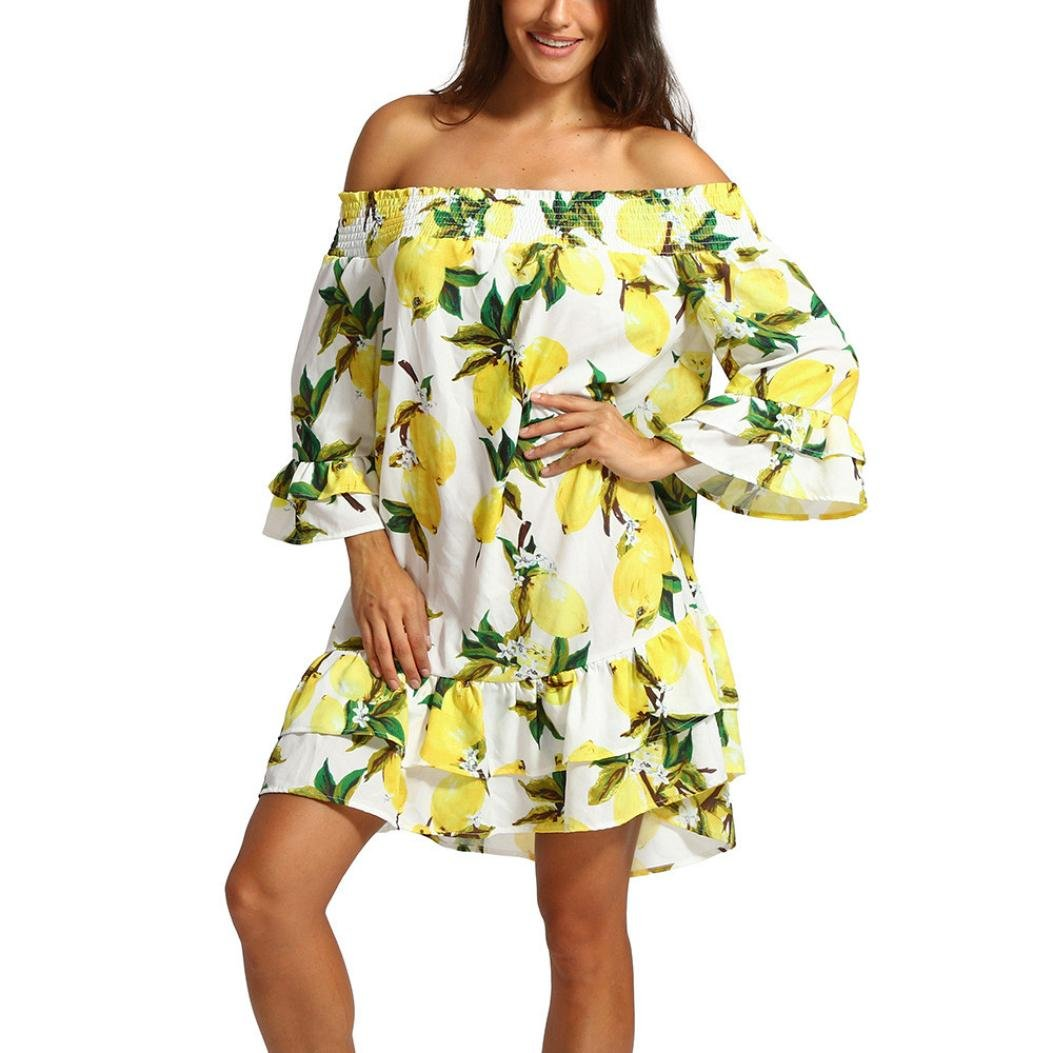 Beautyfine Women Chiffon Dresses, Chic Loose Off Shoulder Print Mini Dress at Amazon Womens Clothing store: