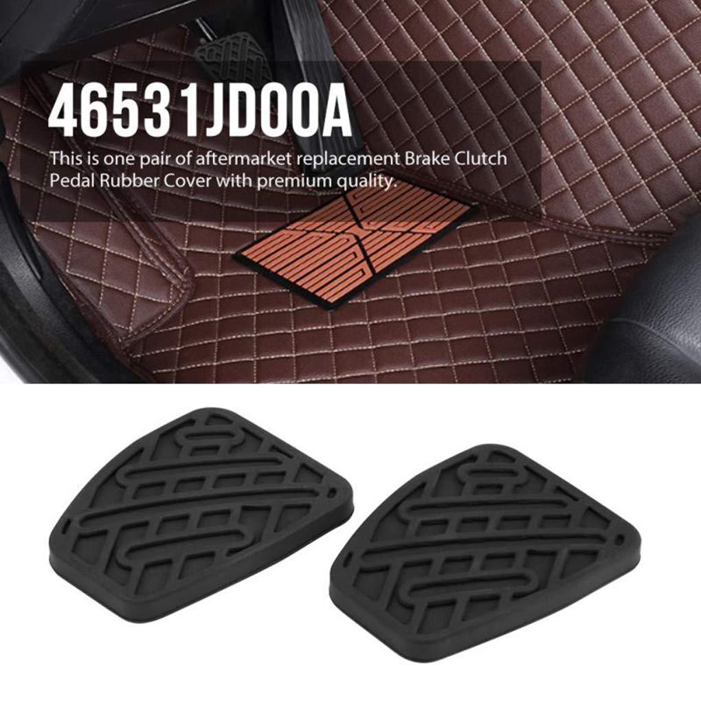 Sunlera 1 par de Embrague del Freno de Pedal Cubierta de Goma Negro Antideslizante Almohadilla de Repuesto para Nissan Qashqai 2007-2016 46531JD00A: ...