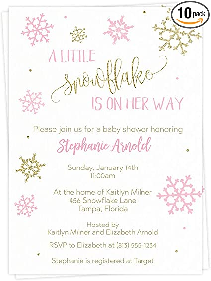 Baby It/'s Cold Outside Gender Reveal Table scatter snowflake confetti Winter baby shower Pink white gold Oh baby Baby sprinkle