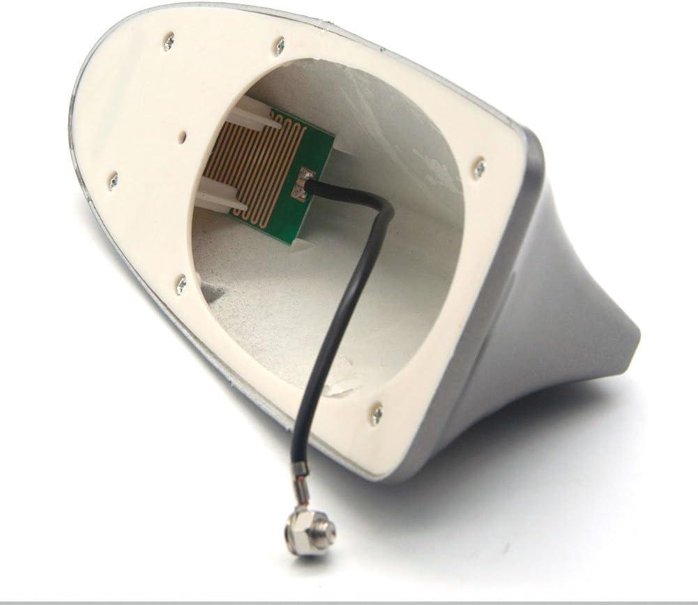 Negro vap26 Antena de Aleta de tibur/ón para decoraci/ón de Coche Antena de Radio de se/ñal 17.1 * 7.5 * 6cm Antena de Techo con Antena modificada