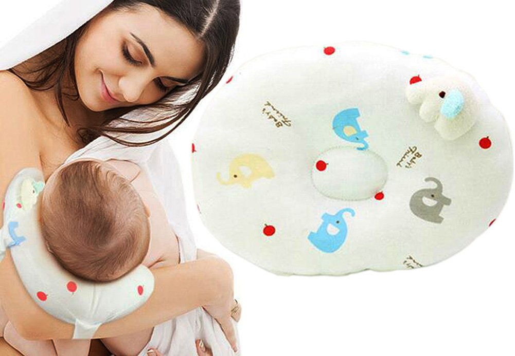 2-in-1 Travel Arm Nursing Pillows for Breastfeeding,Baby Pillows for Sleeping,Head-shaping Pillow Warmword