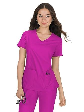 ec0cec48151 Amazon.com: koi Basics 374 Women's Katie Mock Wrap Solid Scrub Top ...