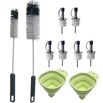 condello casa bebé botella de agua limpiador de brochas de limpieza mango largo herramienta Set con