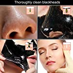 Blackhead Peel Off Mask, Removes Blackheads - Purifying Quality Blackhead Remover Charcoal Mask - Best Mud Facial Mask 60g Pack of 1 (Black) - by ENGIVE