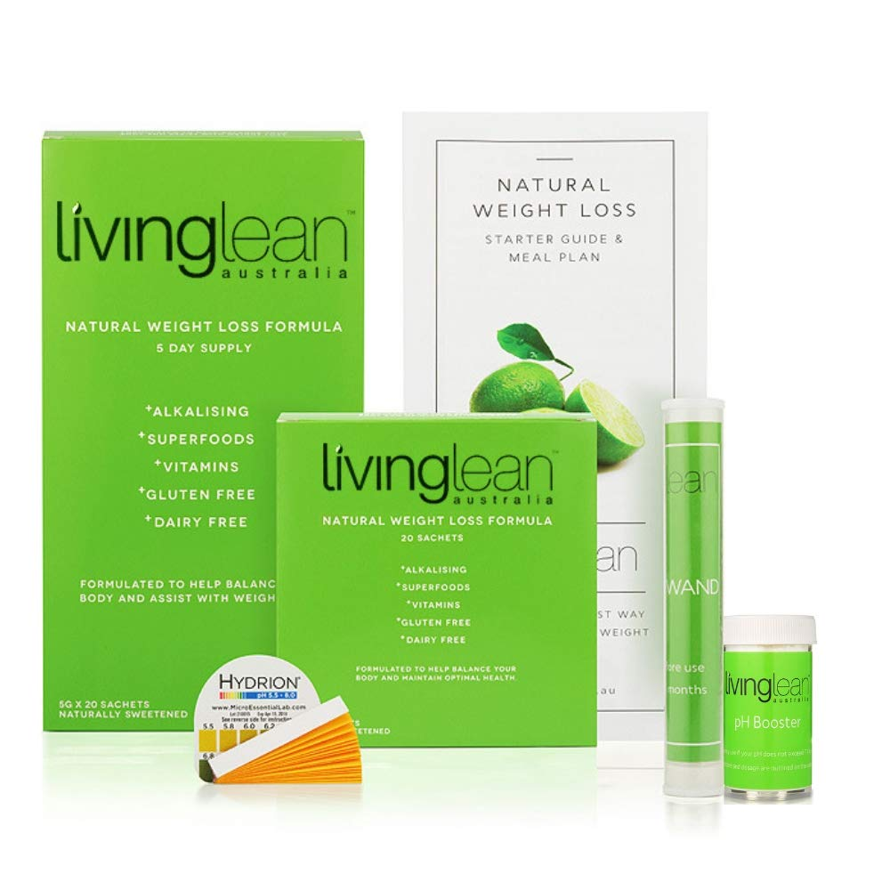 Living Lean Detox Cleanse Weight Loss Kit for 5 Days - Vegan Natural Organic - Alkaline Your Body for Sustainable Weight Loss & Digestion Support-Colon, Kidney, Liver & Bowel Cleanser - High Strength