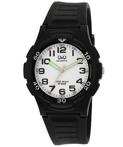 Q&Q Reloj caballero sumergible y antialergico con numeros arabes fabricado por Citizen