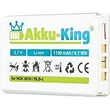 Akku-King Akku ersetzt Nokia BLB-2 - Li-Ion 1100mAh - für 8210, 3610, 5210, 6510, 7650, 8250, 8310, 8850, 8890, 8910, Fortuna Clip-On